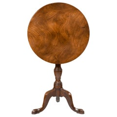 George III Mahogany Tilt-Top Occasional Table