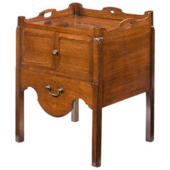 George III Mahogany Tray Top Commode from the Chippendale Period