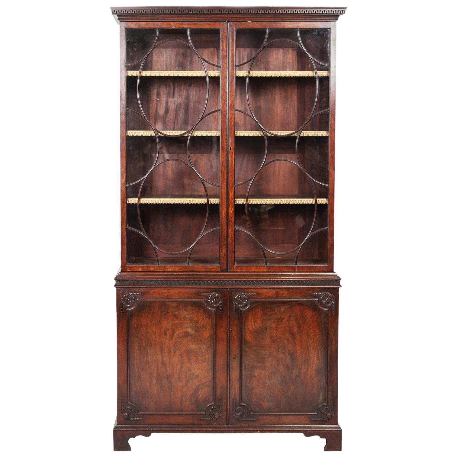 George III Mahogany Two-Door Bookcase