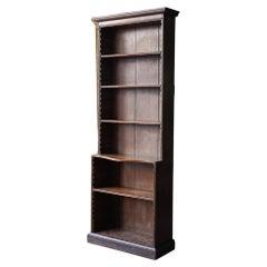A George III Oak Open Bookcase