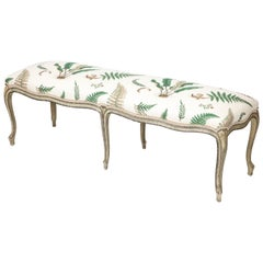 George III Painted Serpentine Bench