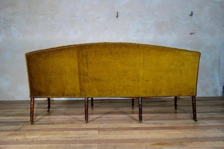 A George III Settee, Sofa Faux Bamboo Mahogany Legs Yellow - Georgian For Sale 7