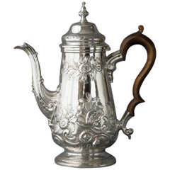 George III Silver Coffee Pot  London 1768 by Thomas Wallis