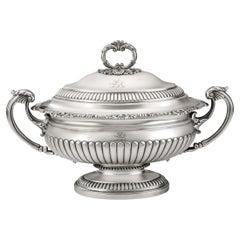 George III Soup Tureen Made in London in 1817 by John Edward Terrey