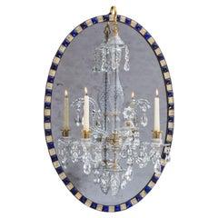 Georgian Irish Oval Mirror Chandelier