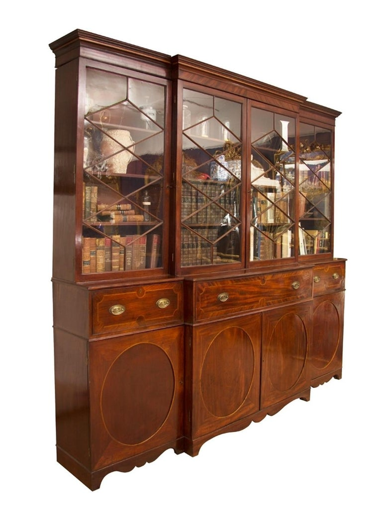 Antique And Vintage Secretaires 1495 For Sale At 1stdibs >> Georgian Mahogany Breakfront Secretaire Bookcase Circa 1780