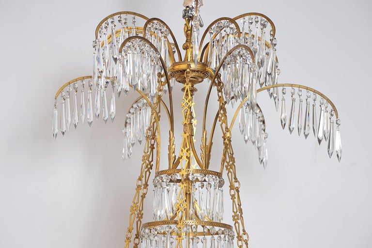 German Neoclassic Ormolu and Cut-Glass Twenty-Four Light Chandelier, circa 1795 7