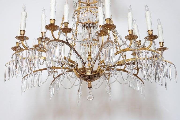 German Neoclassic Ormolu and Cut-Glass Twenty-Four Light Chandelier, circa 1795 8