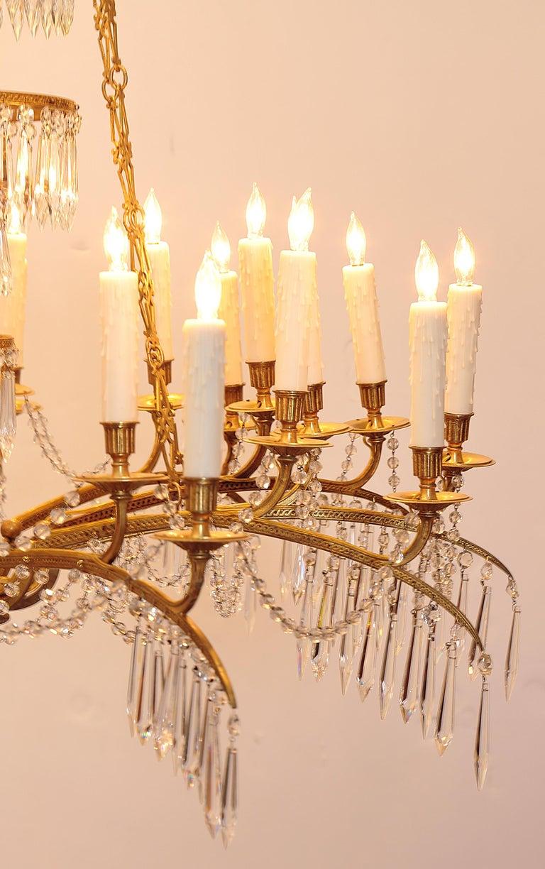 German Neoclassic Ormolu and Cut-Glass Twenty-Four Light Chandelier, circa 1795 In Good Condition In Dallas, TX