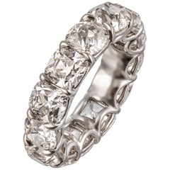 GIA Certified Eternity Ring Comprising of 13 Diamonds in Platinum