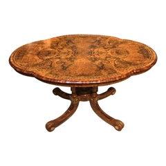 Gillows Victorian Period Burr Walnut, Kingwood, Ormolu Mounted Table