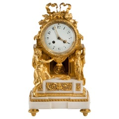 Gilt Bronze and Ormolu Mantle Clock by Samuel Marti