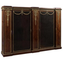 Gilt-Bronze Mounted Mahogany and Satine Bookcase by François Linke, circa 1890