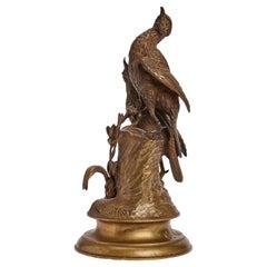 Gilt Bronze Sculpture of Birds, France 1850