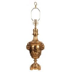 Gilt Bronze Urn-Form Table Lamp