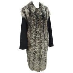 A Giuliana Teso Cashmere And Fox Coat, 3/4 Length.  Very High Grade Cashmere.