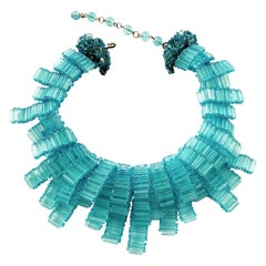A glass beaded festoon necklace, in the style of Coppola e Toppo, 1990s.