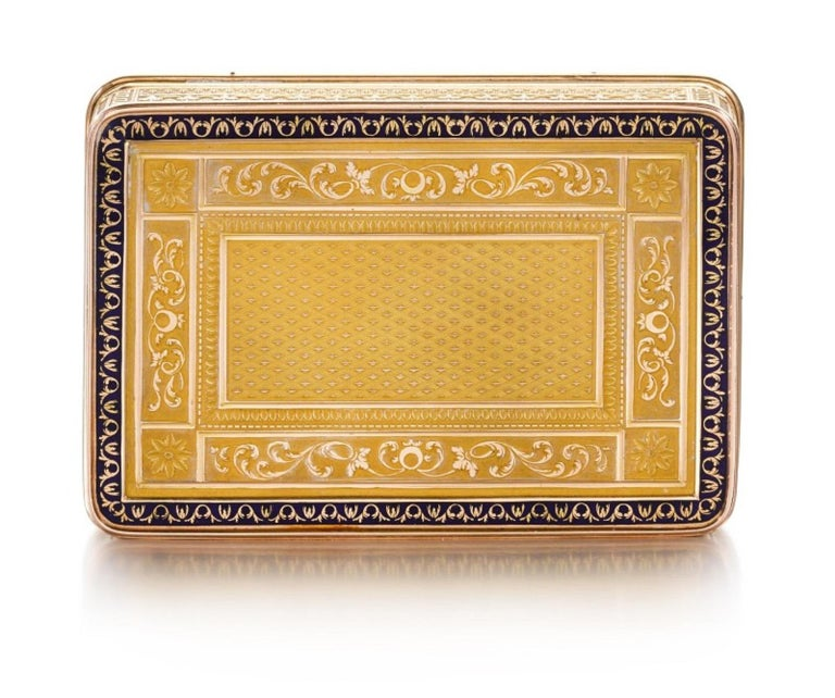 Early 19th Century Gold and Enamel Snuff Box, Hanau, circa 1805 For Sale