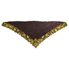 A gold and silk embroidered Fichu or Palatine Fichu Scarf - Europe - Circa 1700