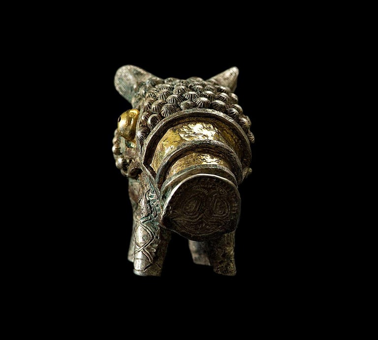 Gold and Silver Viking Figure of Boar, 9th-10th Century For Sale 6
