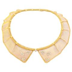 Gold Peter Pan Collar Necklace by Van Cleef & Arpels