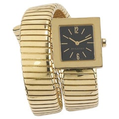 Gold Tubogas Bracelet Watch by Bulgari