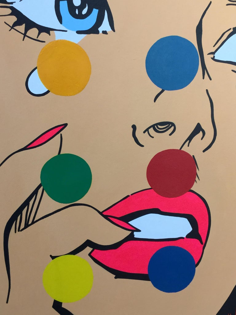 A. Gomez Disco Dreams Acrylic and Oil on Canvas 40