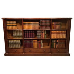 Good Figured Mahogany Early Victorian Period Antique Open Bookcase