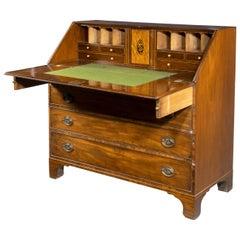 Good Large George III Period Mahogany Bureau