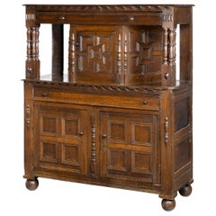 Good Late 17th Century Oak Court Cupboard