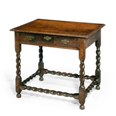 A Good Later 17th Century Oak Side Table