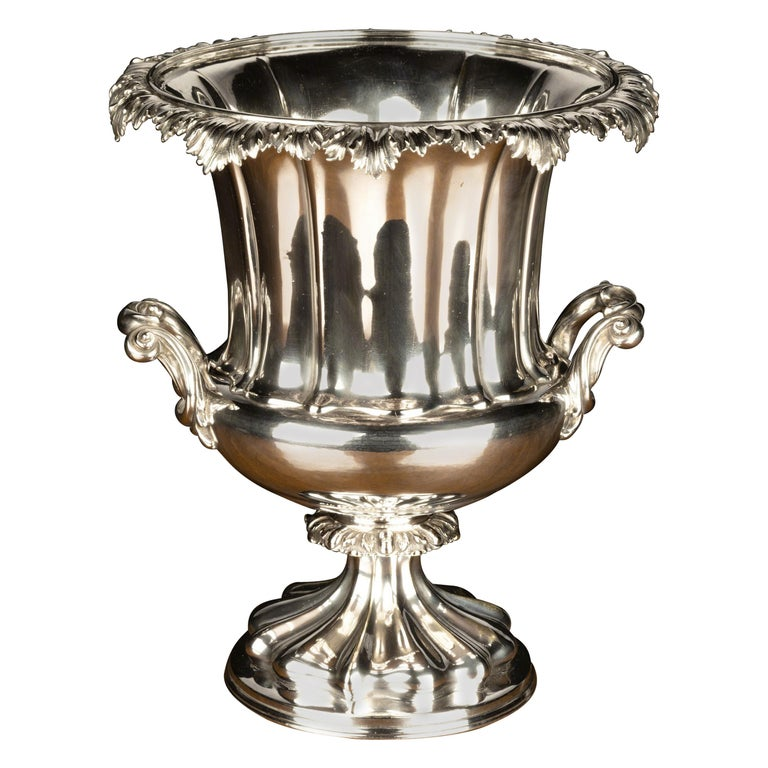 Good Mid-19th Century Sheffield Plated Champagne Bucket For Sale