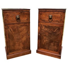Good Pair of English Regency Mahogany Pedestals