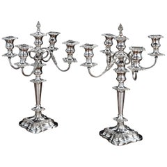 Good Pair of Late 19th Century Sheffield Plated Candelabras