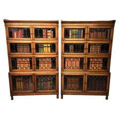 Good Pair of Stacking Bookcases by Minty of Oxford