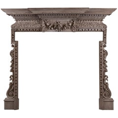 Good Quality Carved English Fireplace