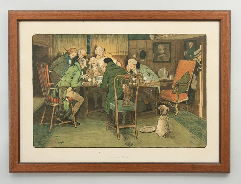 Humorous print by Cecil Aldin.