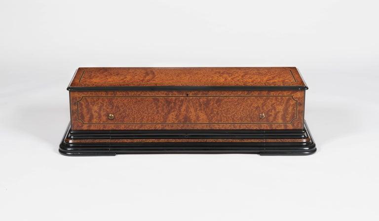 Amboyna Grand 19th Century Swiss-Made Musical Box For Sale