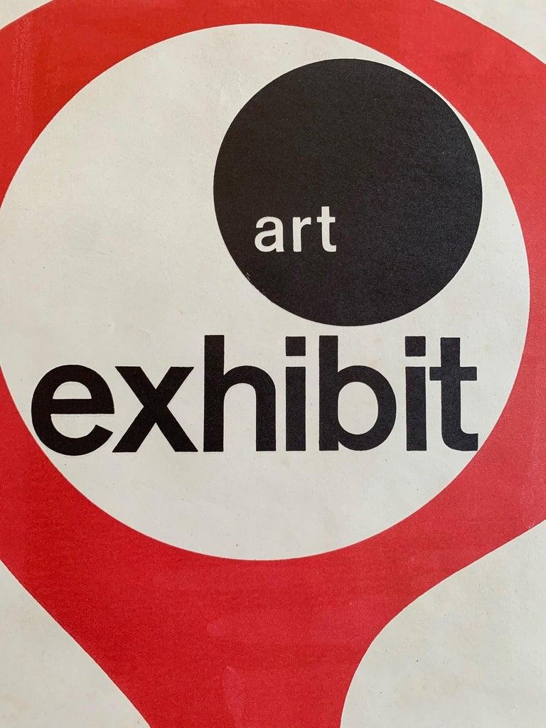 A great art poster announcing an exhibit at American Embassy, Paris, circa 1950s.