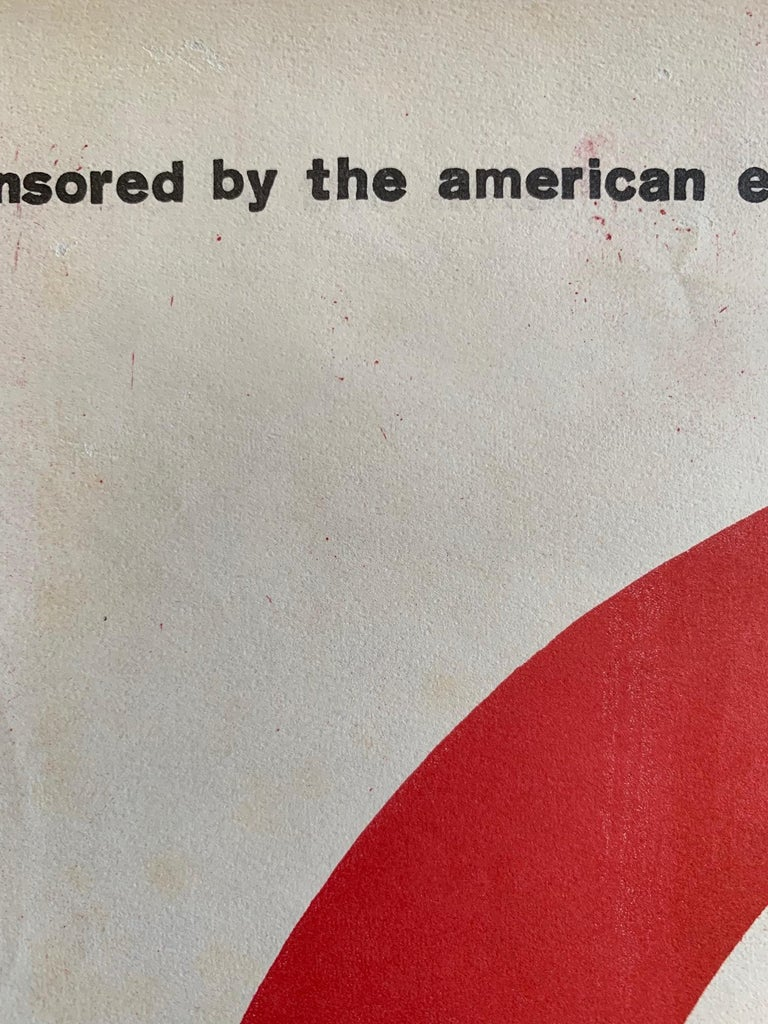 Modern Great Art Poster circa 1950s American Embassy, Paris For Sale