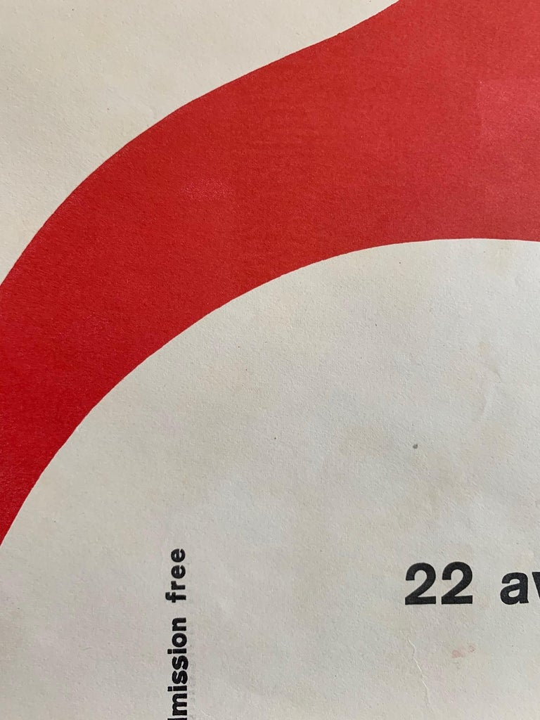 French Great Art Poster circa 1950s American Embassy, Paris For Sale