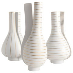 Group of 3 Surrea Series Vases Designed by Wilhelm Kåge for Gustavsberg