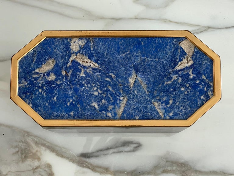 Group of Italian Boxes Lapis Lazuli and Tiger's Eye For Sale 4