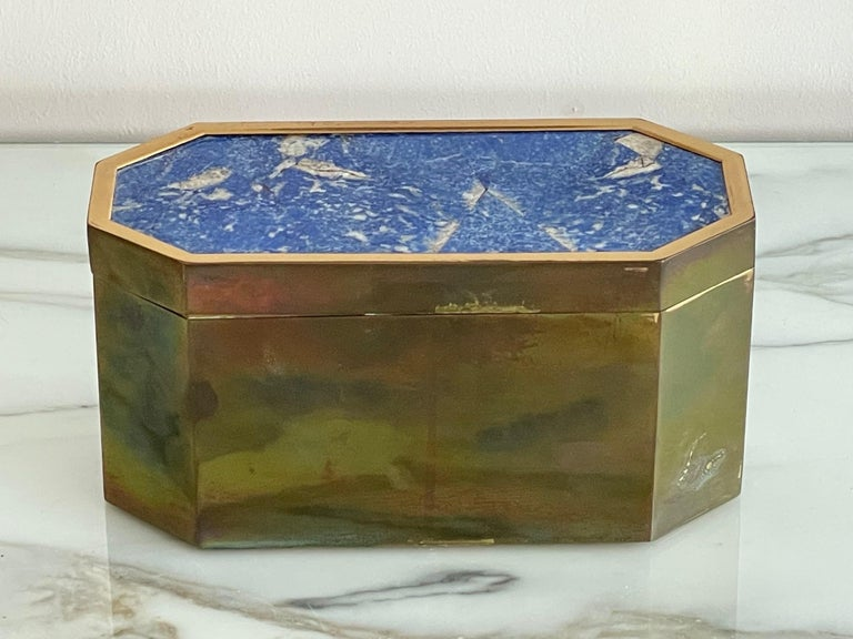 Group of Italian Boxes Lapis Lazuli and Tiger's Eye For Sale 2