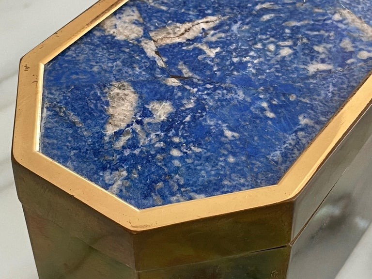 Group of Italian Boxes Lapis Lazuli and Tiger's Eye For Sale 3