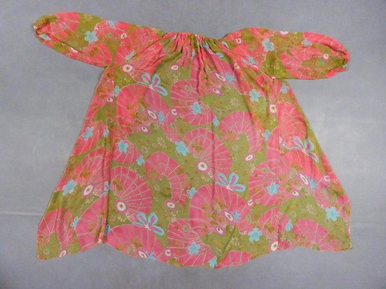 Women's A Guy Laroche Set in Printed Silk Crepe Circa 1965 For Sale