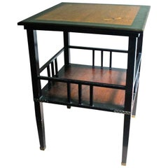 A. & H. Lejambre American Aesthetic Movement Tiered Square Table