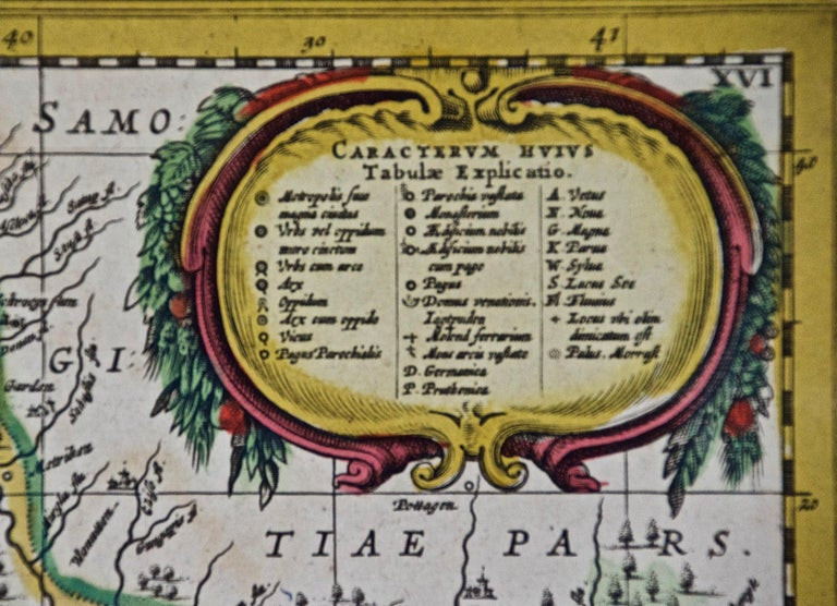 Hand Colored 17th Century Janssonius Map of Prussia Poland, N. Germany, Etc In Good Condition For Sale In Alamo, CA