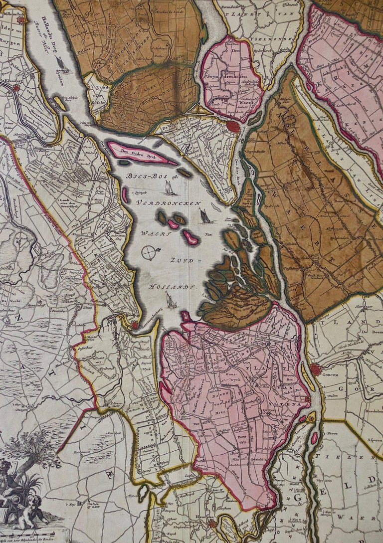 Dutch Hand Colored 17th Century Visscher Map