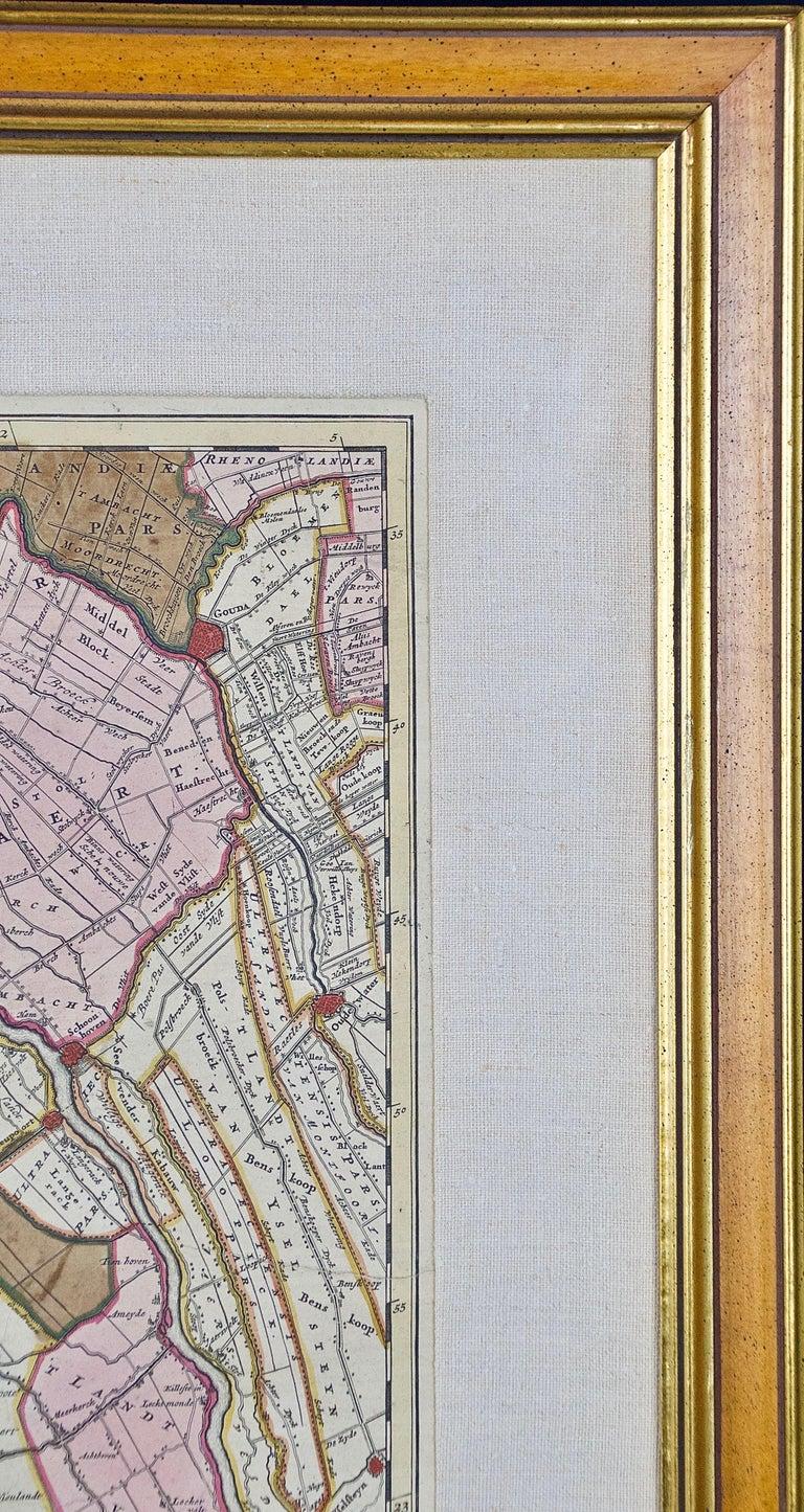 Hand Colored 17th Century Visscher Map